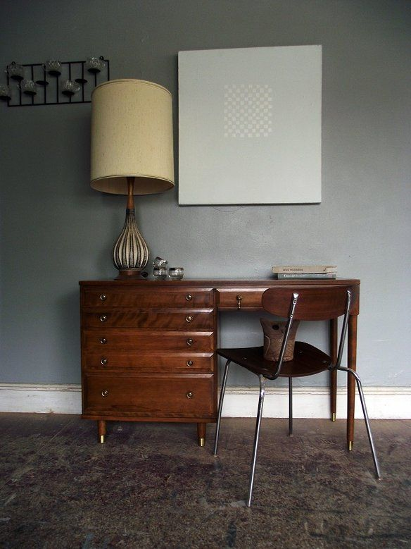 mid century retro solid wood fantastic desk