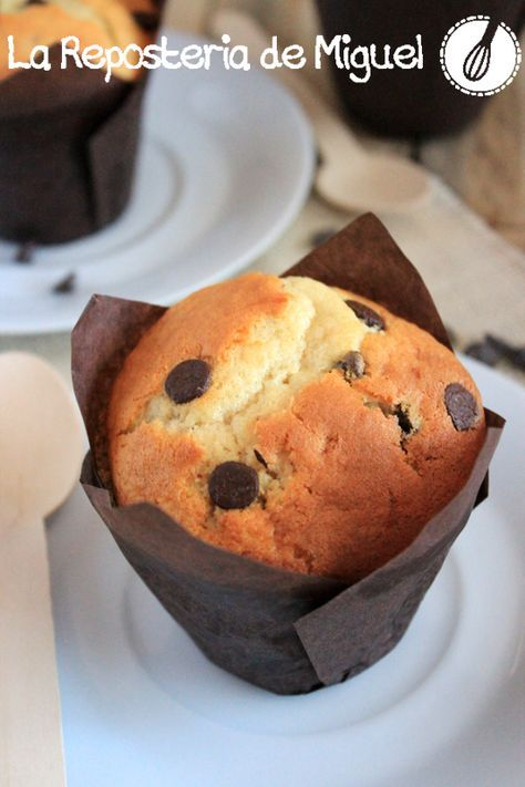 Muffins de yogurt con pepitas chocolate