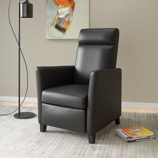 Elise Bonded Leather Recliner in Black & Best 25+ Small recliners ideas on Pinterest | Small man caves ... islam-shia.org