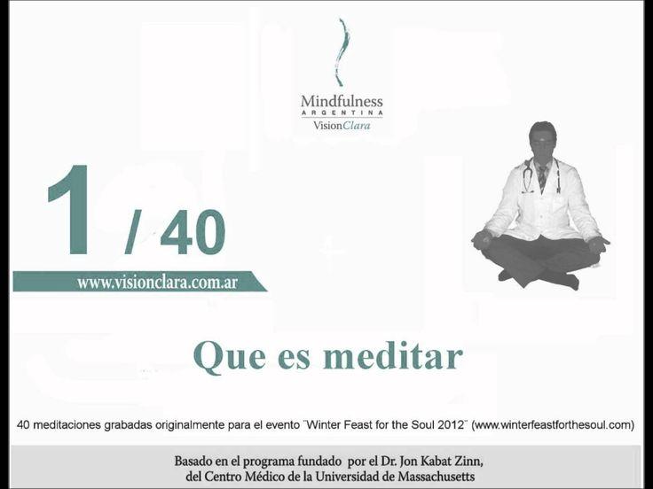 """Primera meditación guiada de la serie """"40 meditaciones para vivir plenamente atento"""". Introducción de Clara Badino a la práctica meditativa de mindfulness ba..."""