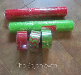 The Bajan Texan: DIY Deco Mesh Garland (Holiday Decor Series)