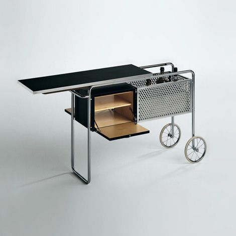 Drinks trolley for Embru, by Swiss architect Alfred Roth, 1930s
