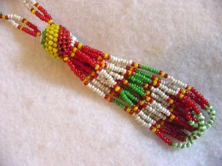 Native American Hand Crafted Seed Bead Tassel by cottagetocastle, $27.50