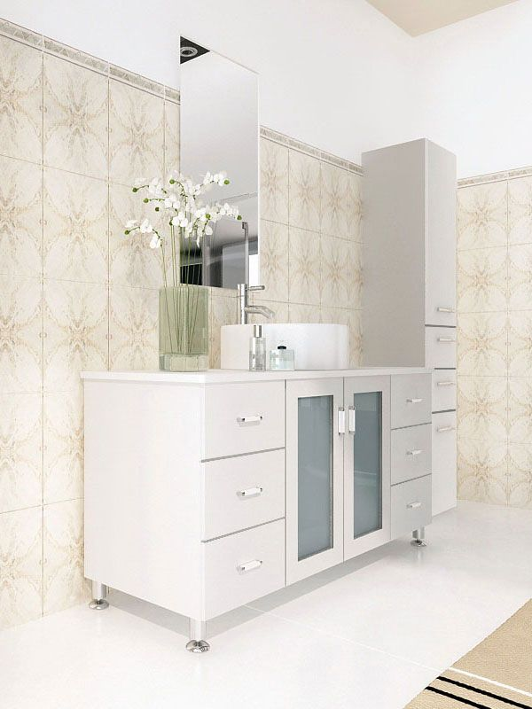 Website Picture Gallery The Grand Lune Single Bath Vanity in White one of our most popular vanities Check out our full collection of modern vanities today