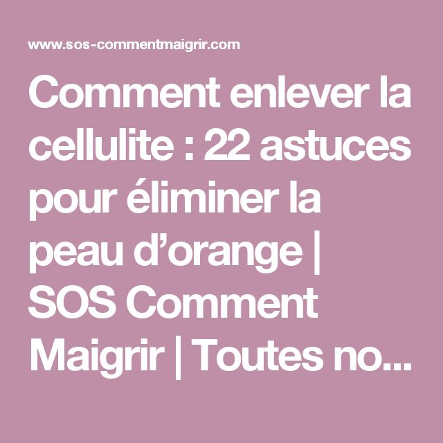 17 best ideas about comment maigrir vite on pinterest