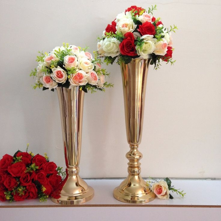 wedding centerpieces fake flowers%0A      wedding centerpiece table decoration flower vase display wedding party  favors home furnishing flower stand height