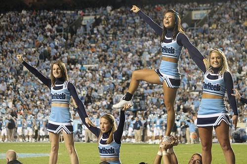 Miami(Fla) at North Carolina 11-14-09 by Hazboy, via Flickr college cheer cheerleading cheerleader
