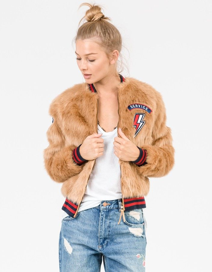 The Letterman Patch Fur Jacket - The Fast And The Curious