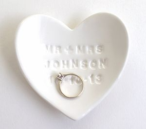 Personalised Ceramic Ring Dish - bedroom