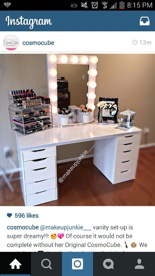 Cute Vanity And Cosmo Cube