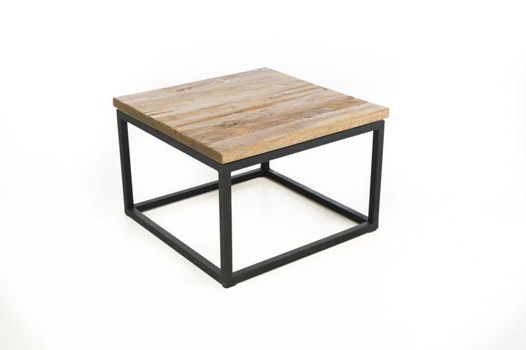Loft Collectie – salontafel vierkant teak/onderstel ijzer