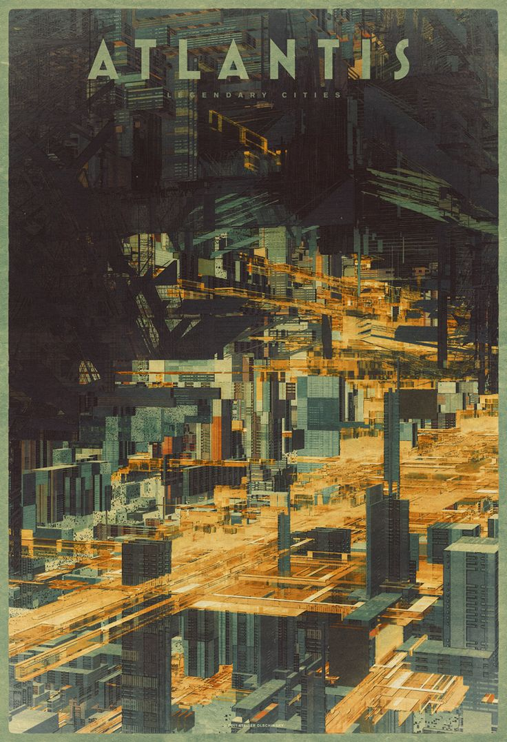 "Another from Atelier Olschinsky's ""Legendary Cities."" ""Atlantis."" Geeked over the perspective with an architect friend last night. Really gives it the underwater feel."