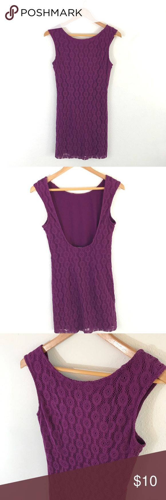 Purple Lace Dress Beautiful color, perfect for spring and summer but could Aldo pair with black tights to layer for colder months. Beautiful Bodycon style mini. Pair with hills for a night out! Forever 21 Dresses