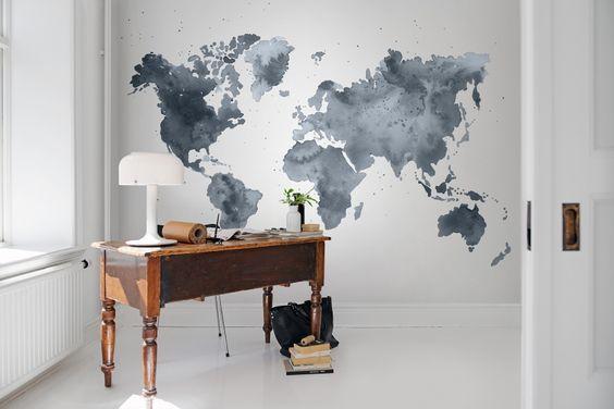 Un+papel+pintado+mural+favorito+de+Rebel+Walls,+Dusky+World!+#rebelwalls+#papelpintado+#murales