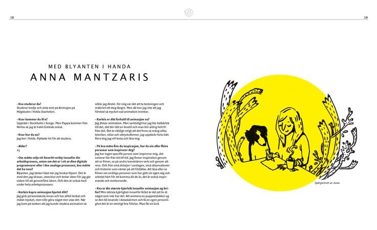 From my portolio - Spread from interactive magazine