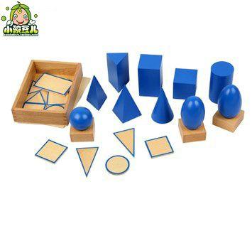 Бесплатная доставка 1 3 6 ребенок Монтессори раннего обучения деревянные трехмерной геометрии проекция карты DIY смешной игрушки / подарок на Aliexpress.com