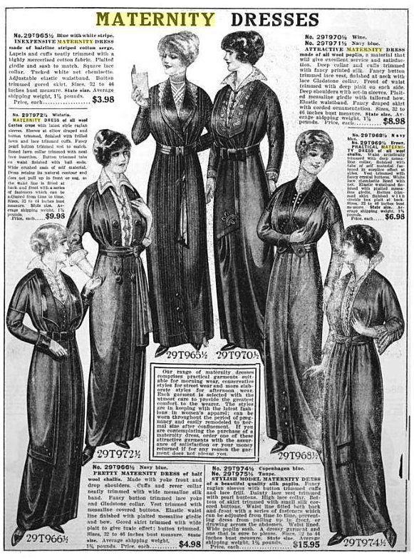 1914 Sears catalog Maternity dresses