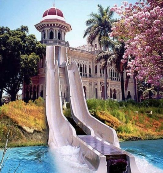 Luxury House Pool With Waterfall And Slides: 126 Best My Favorite Pools And Slides Images On Pinterest