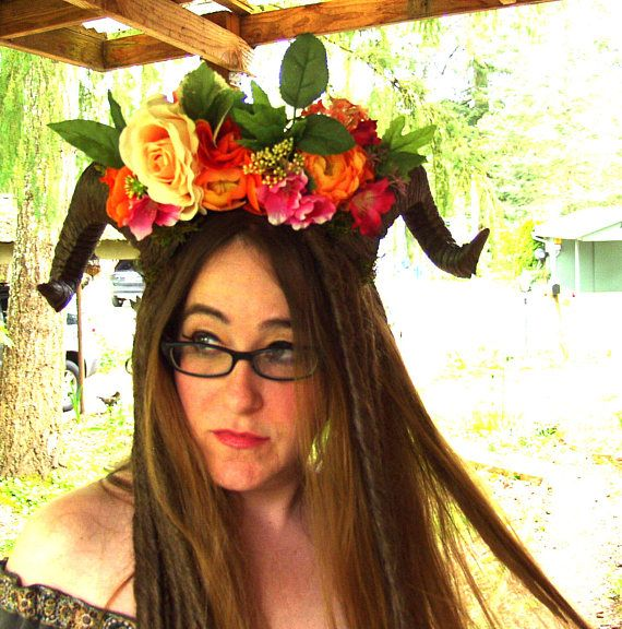 This listing is a deposit for your very own Adorable one-of-a-kind costume horns for romping in the woods, stomping around the Samhaim bonfire, or dancing your heart out at your favorite festival <3 Lightweight cast resin horns and silk florals mounted on a sturdy plastic headband for easy all-day all-night wear <3 Made with love and pixie dust in the ancient redwood forest of Northern California <3 Full price varies with type and quality of materials and typically ranges from $60 to...