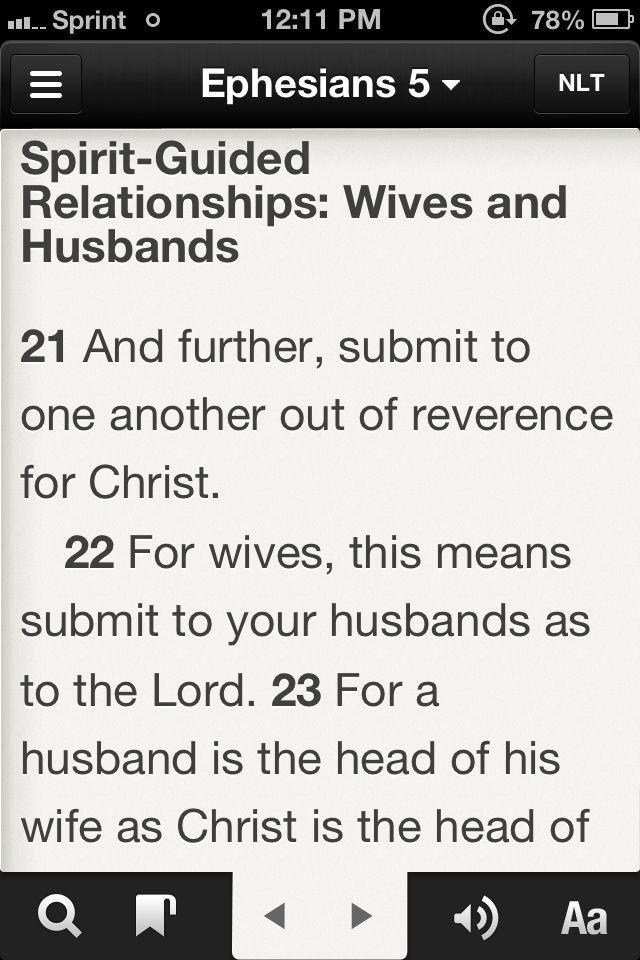 Ephesians 5:21-33 to be read at my wedding