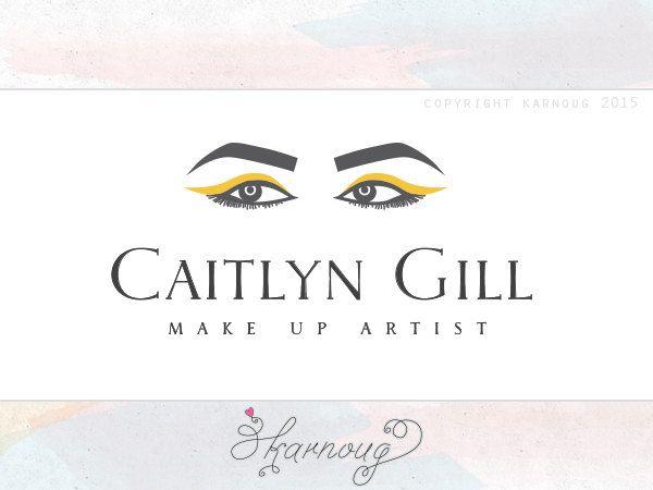 Beauty Salon Logo, Make up Logo, Eyes Logo, Girl Logo, Custom Logo, Premade Logo, Watermark, Eyebrows Logo by karnoug on Etsy
