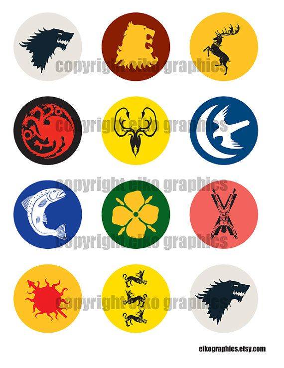 Game Of Thrones Cupcake Toppers