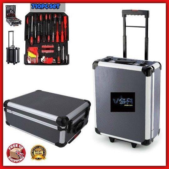 710pc Tool Set Case Toolbox Trolley DIY Mechanic Garage Repair Kit Box Organizer