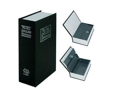 Dictionary Book Safe Security Key Lock Money Petty Cash Jewellery Money Box