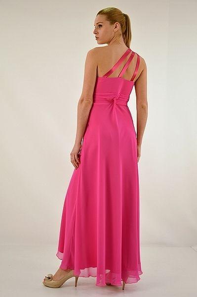 Φόρεμα μακρύ, ένας ώμος με κέντημα