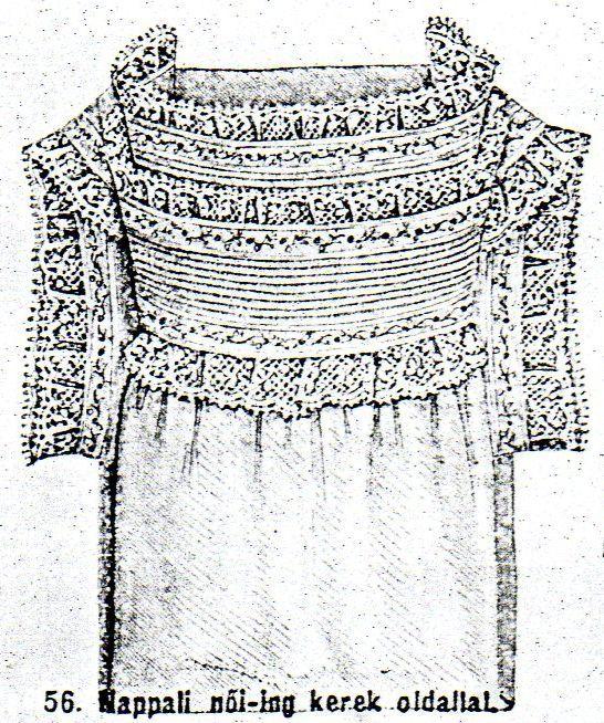 Chemise with roundy neckcut from Budapesti Bazár 1878