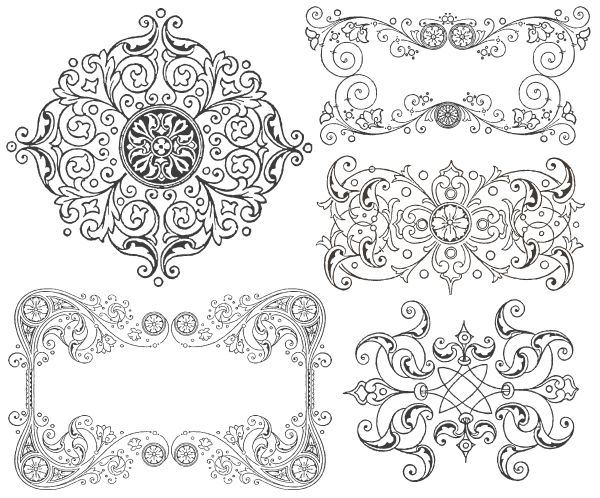 Free Vintage Ornament Border Frames Graphics