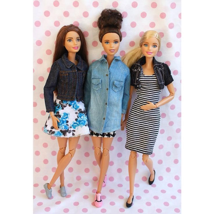 Made to Move Barbie dolls in casual outfits.