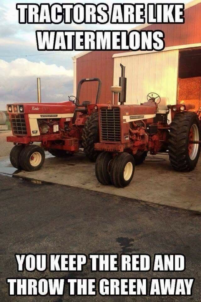 My papaw would never drive nothing but a red tractor!! Lol