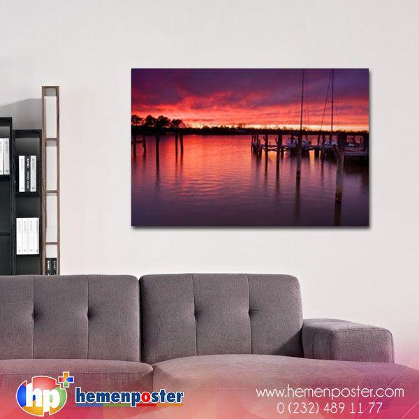 Gün batımı huzur verici esintisiyle sizi de kendisine aşık edicektir. Spariş --> http://bit.ly/2dWZzG2 #hemenposter #manzara #art #sanat #yağlıboya #tablo #canvas #günbatımı