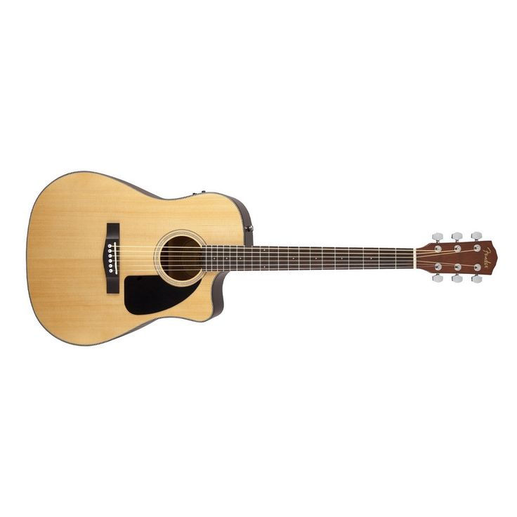 Fender CD-60CE Acoustic Electric Guitar in Natural with Hard Case