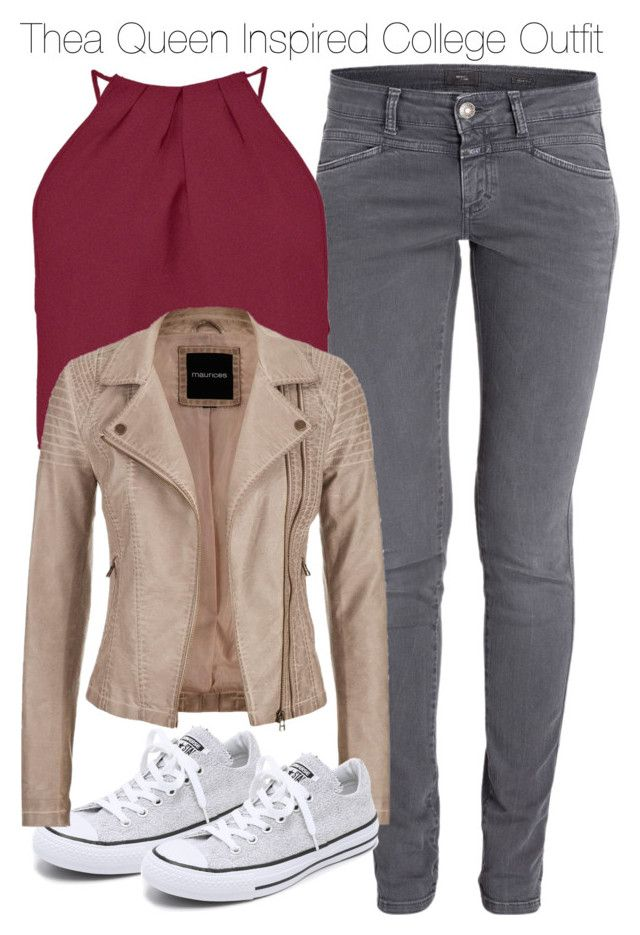 """""""Thea Queen Inspired College Outfit"""" by staystronng ❤ liked on Polyvore featuring Boohoo, Converse, maurices, Arrow, college, autumn and theaqueen"""