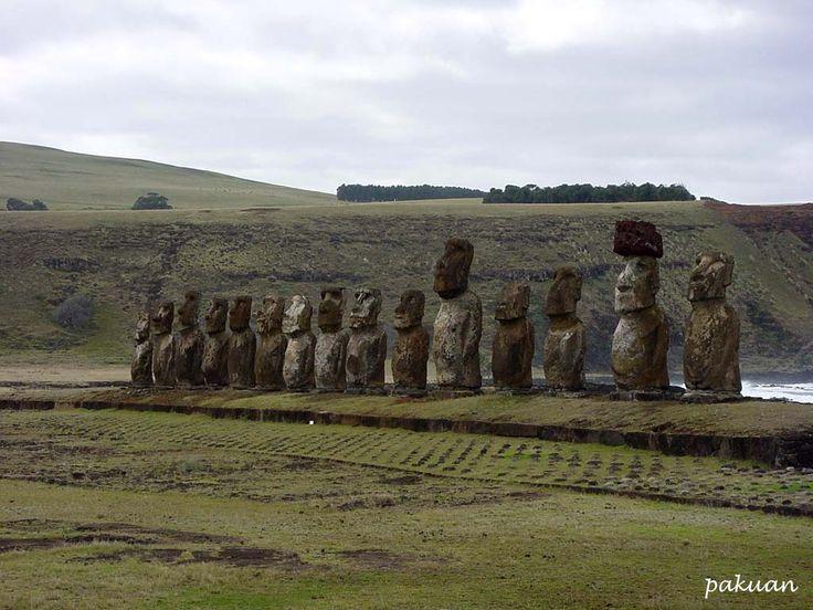 Moai statues of the Easter island, Chile- coool !