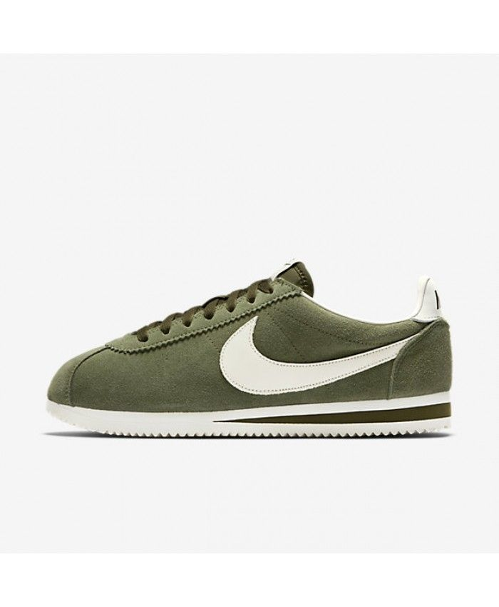 e0bd25c90 Nike Classic Cortez Leather SE Legion Green/Sail Mens Shoe | Nike ...