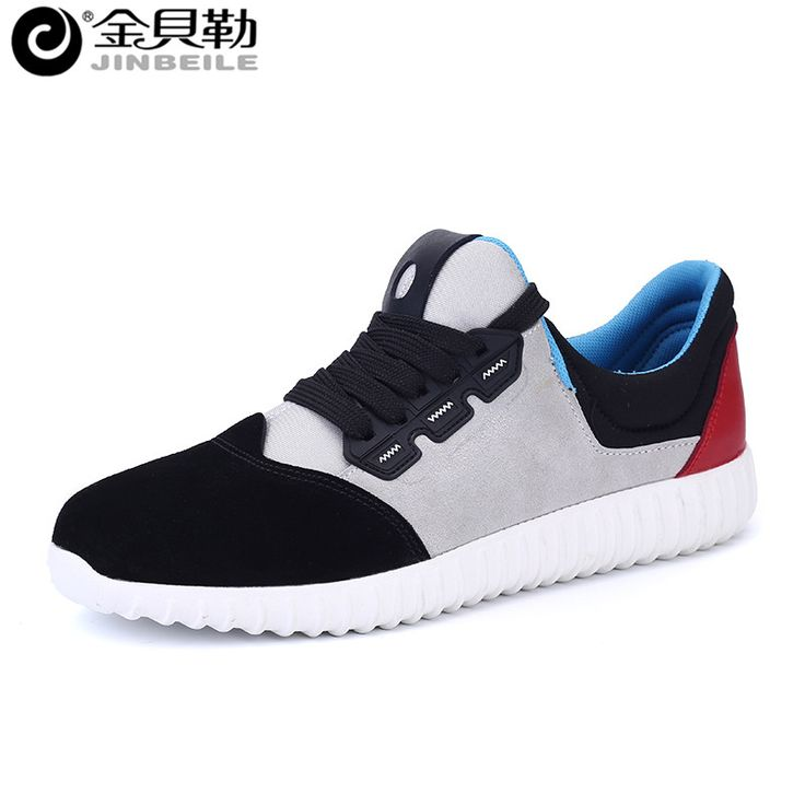 Новая Мода Высокое Качество Замши Повседневная Обувь 2016 Дышащий Удобная Новая Осень Мужчины Квартиры Обувь Синий Серый Черный