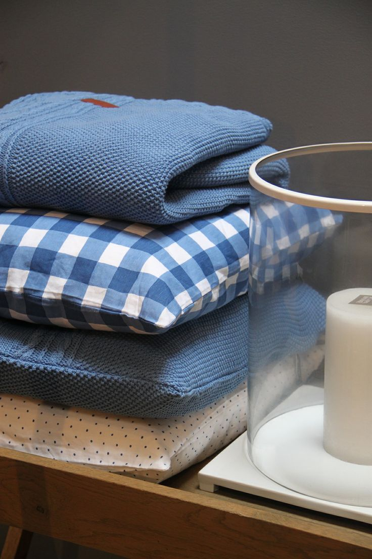Gant Home Collection Spring 2014 Fisherman knit cushion, Throw. cushion dot en check. by Hedges