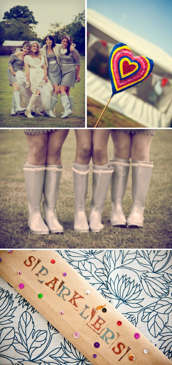 Don't forget a pair of pretty wellies if you're having a winter wedding or rain is forecast. Rain doesn't need to stop your fun and a pair of wellies can make for stunning photos