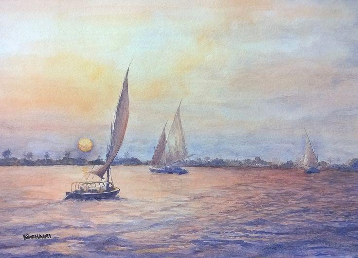 Koshairi/ Tranquility on the River Nile, Egypt