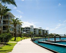 Boathouse Apartments by Outrigger, Ideally located on the waters edge at the Port of Airlie Marina
