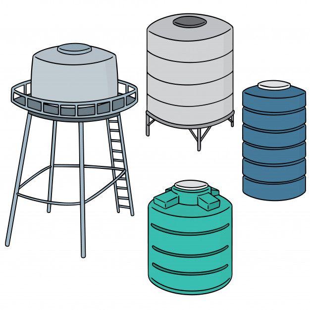 Conjunto De Tanque De Almacenamiento De Premium Vector Freepik Vector Agua Icono Mano Linea Almacenamiento De Agua Tanques Tanque De Agua