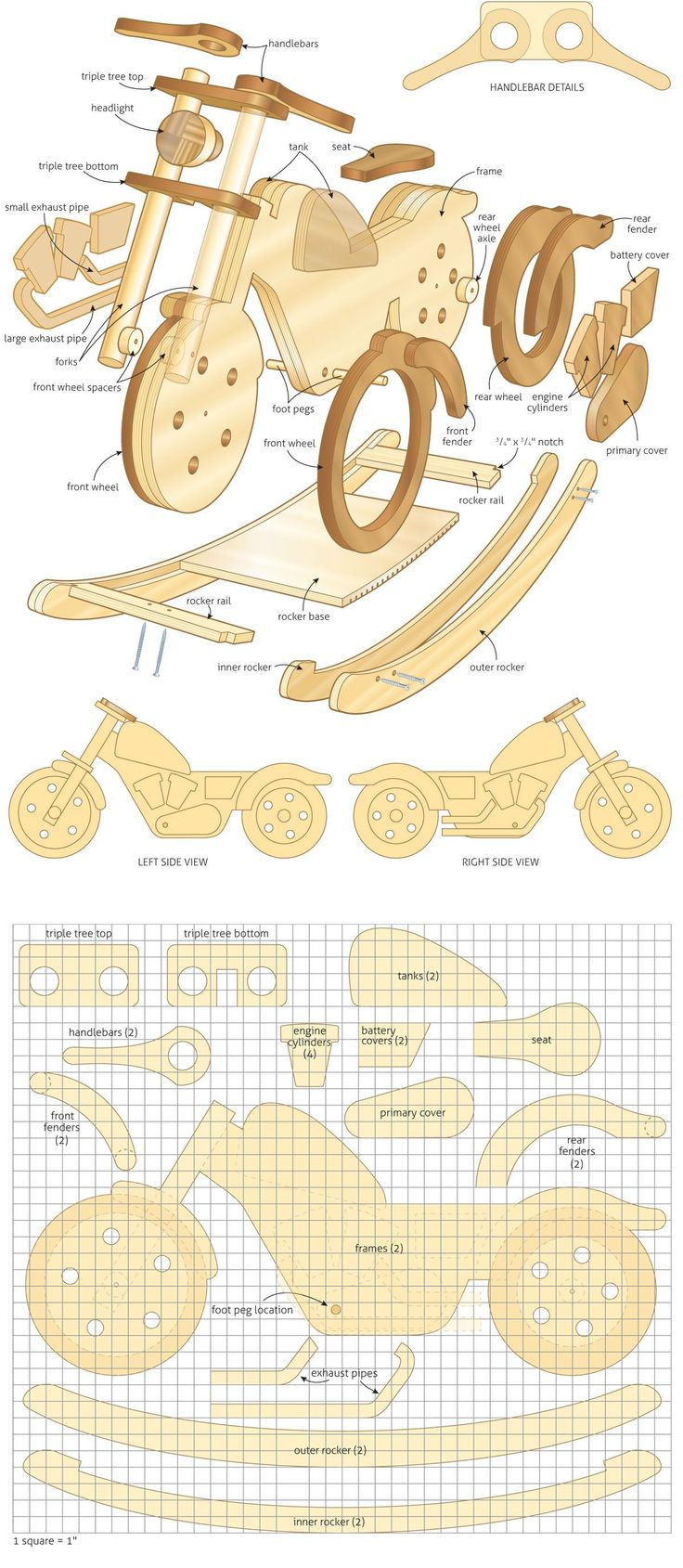 rocker-plan.jpg 1,200×2,754 pixels..I really want to make this for my grandsons 1st. birth day #woodworking