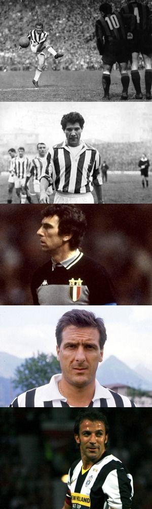 Cinque giocatori storici della Juventus