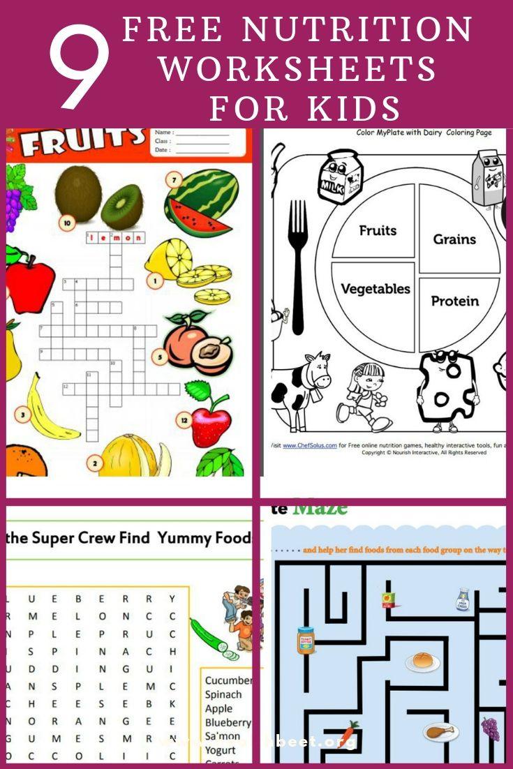 9 Free Nutrition Worksheets for Kids Kids health