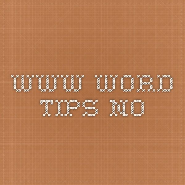 www.word-tips.no