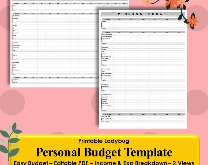 financial budget template