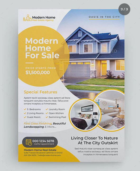 Real Estate Property Flyer Template Psd Realtor Flyer Design Real Estate Flyers Real Estate Flyer Template